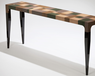 Patchwork Console Table with Ebony Legs