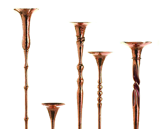 Copper Candleholders Group 4