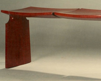 Bench in Honduran Mahogany