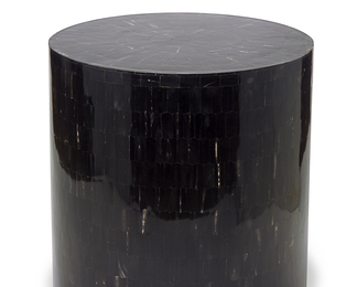 Serenity End Table/Stool in Horn