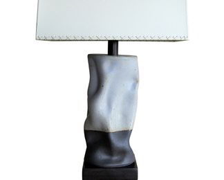 Tall Undulating Cylinder Lamp - Lavender