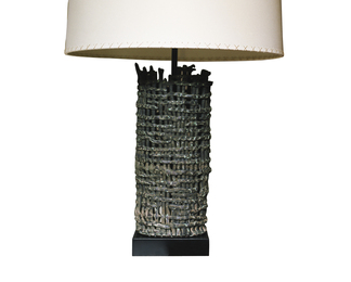 Tall Basket Weave Fragment Lamp