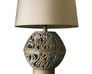 Squiggle Ovoid Lamp