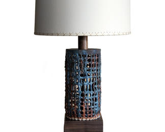 Small Basket Weave Lamp