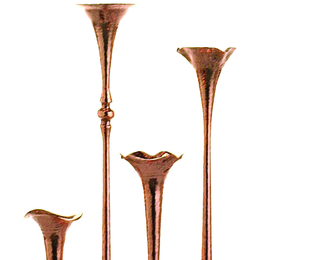 Copper Candleholders Group 8