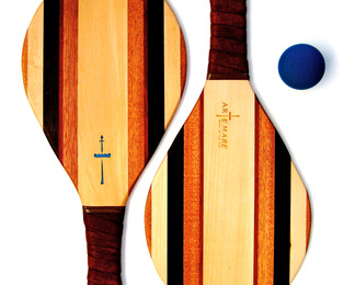 Wooden Beach Racquet Set