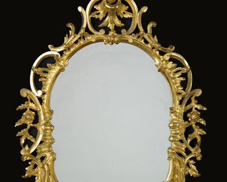 Chippendale Oval George III Mirror - Harewood