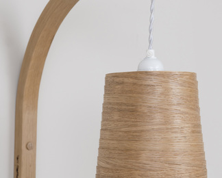 Stem Wall Light With Shade - Oak