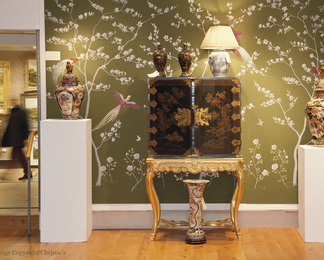 Christie's Chinoiserie Wall