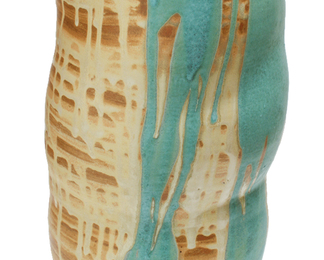 Chrysalis Vase with Turquoise Spill
