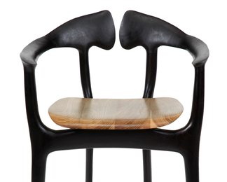 Swallowtail Counter Stool - Walnut