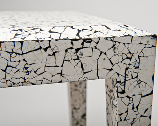 Side Table in Cracked Eggshell