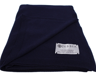 Cashmere Throw - Navy