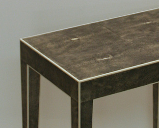 Side Table in Shagreen and Bone