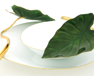 Pond Leaf Bowl Set - Small and Large Bowl