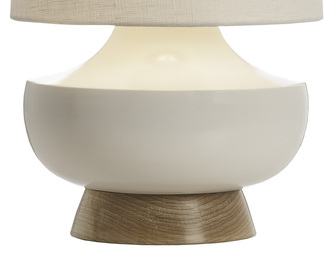 Vanderbilt Table Lamp - White and Maple