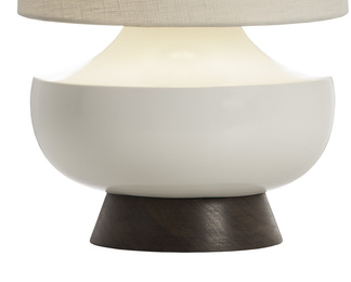 Vanderbilt Table Lamp - White and Walnut