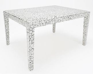 Coffee Table in Cracked Eggshell