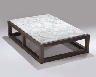 Grey Veneer Coffee Table