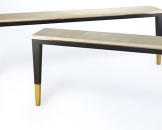Ebony and Shagreen Console Table
