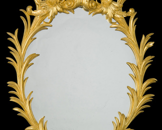 English Oval George II Mirror - Napoli