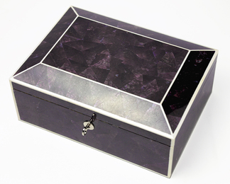 Jewelry Box in Violet Oyster - Medium