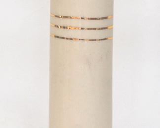 Cylinder Vase with Gold Bands