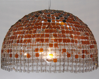 Amber Glass Dome