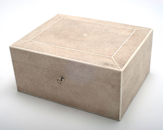 Jewelry Box in Shagreen and Bone - Large
