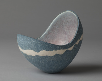 Tilting Blue Vessel