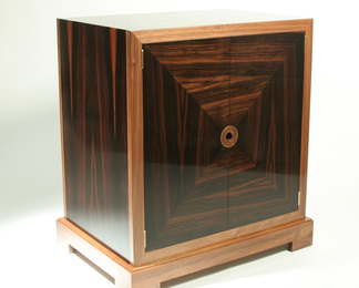 Macassar Ebony Two Door Cabinet