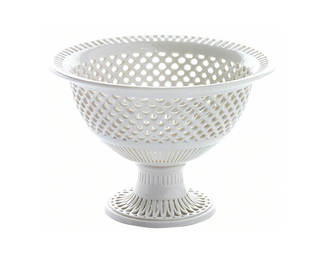 Basket Round - Ivory Glazed