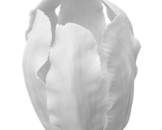 Tulip Votive - White Glazed