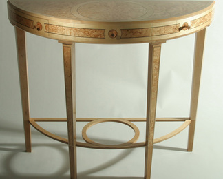 Masur Birch Demi-Lune Hall Table