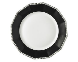 Pearl Plate - Black with Platinum