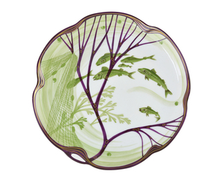 Belle Epoche Plate with Shoal of Fish
