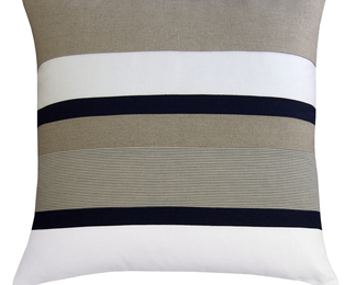 26x26 Ecru Pillow - Stripe