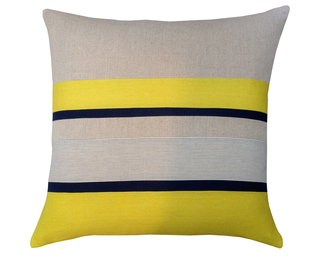 26x26 Chartreuse Pillow Stripe