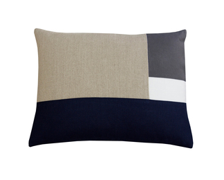 14x18 Ecru Pillow - Grid