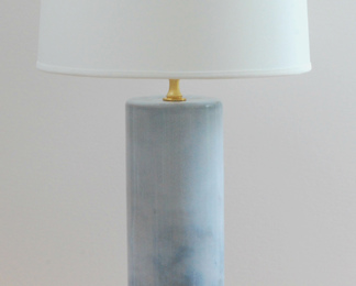 Blue Cascade Lamp with Shade