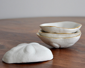 Sea Biscuit Bowl - Yellow Gold