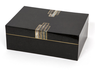 Black Deco stone box