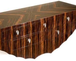 Wall Mounted 5 Drawer Console