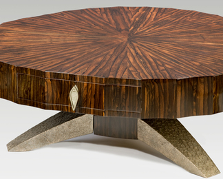 Coffee Table with Bronze Legs
