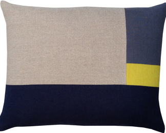 14x18 Chartreuse Pillow - Grid
