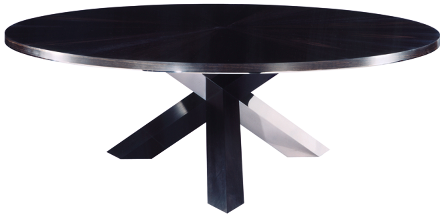Bespoke global product detail ebony and stainless for Black dining table