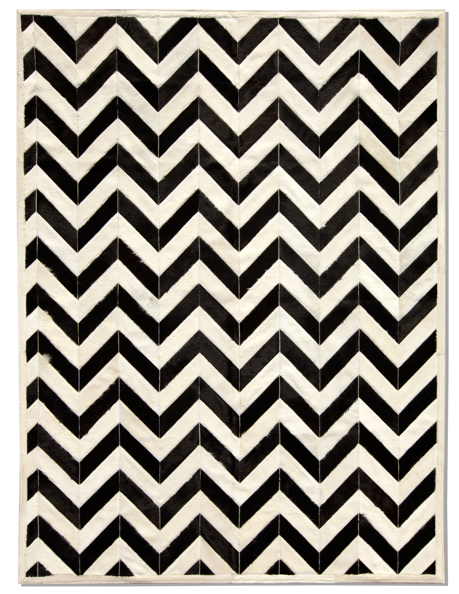 global product detail exclusive yves cowhide rug black white